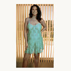 Plus Size Lingerie Sizes 1X  2X  3X  Mint Color Lace Chemise   2592X