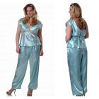 Plus Size Lingerie Size 1X 2X or 3X Antique Blue Long Pajamas VX2083X