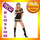 C387 Ms. Blazin' Hot Sexy Fireman Fire Fighter Chief Halloween Adult Costume