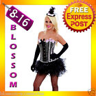 5119 Burlesque Pink Moulin Rouge Can Can Dancer Showgirl Corset Tutu Costume