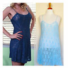 Plus Size Lingerie 1X 2X 3X or 4X  Light Blue Floral Lace Chemise   2592X