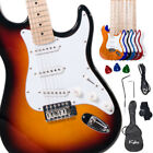 "Kalos 39"" Full Size Electric Guitar ~Sunburst Black Blue Purple Red +Lesson Book"