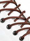 ROUND BLACK and RUST BROWN SHOE LACES LONG SHOELACES - 3mm wide - 11 LENGTHS