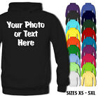 Personalised Custom Your Photo Your Text Premium Unisex Hoodie Hoody Stag Hen