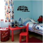 So Many Toys So Little Time Train Vinyl Decal Wall Sticker Words Letters Boy