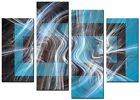 CANVAS WALL ART LARGE QUALITY ABSTRACT PRINTS CONTEMPORARY DIGITAL FLOP BLUE
