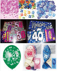 HAPPY BIRTHDAY PARTY KIT PACK-BALLOONS,CONFETTI,BANNER multi style/ages+ CANDLES