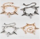 New Fashion Cool Rock Punk Gothic Rivet Spike Taper Stud Link Chain Bracelet Hot