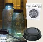 New! BROWN SOLAR Powered Mason Canning Fruit Ball Jar LED LID LIGHT Rustic Lamp