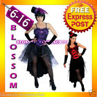 G46 BURLESQUE Ladies SALOON Paris Showgirl Fancy Dress Costume+ Hat