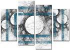 CANVAS WALL ART LARGE QUALITY ABSTRACT PRINTS CONTEMPORARY DIGITAL CANNA BLUE