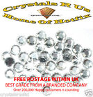 CLEAR IRON-ON HOTFIX RHINESTONE CRYSTAL BEAD CARD MAKING WEDDING BRIDAL BLING