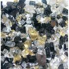 "King Tut 1/4"" 1-120 lbs Fireglass Fire Glass Fire Pit Fireplace Crystals Logs"