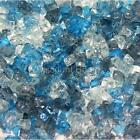 "Ocean Mist 1/4"" 1-120 lbs Fireglass Fire Glass Fire Pit Fireplace Crystals Logs"