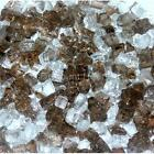 "Rootbeer 1/4"" 1-120 lbs Fireglass Fire Glass Fire Pit Fireplace Crystals Logs"