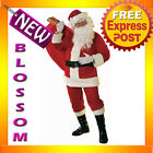 C403 Soft Velour Deluxe Santa Claus Suit Clause Christmas Xmas Adult Costume