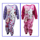 Hello Charmmy Kitty Fleece Sleepwalker Onesie Sleepsuit Age 2-6 Light Pink