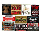 NEW Professional Tattoo Shop Supply Slogan Poster YOUR CHOICE Big Laminated set