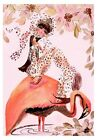 Mermaid Rides Pink Flamingo Taxi Quilt Block Multi Szs FrEE ShiPPinG WoRld WiDE