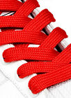 FAT WIDE FLAT RED SHOE LACES SHOELACES - 11mm wide - 3 LENGTHS