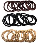 ♥ Non No Metal Free Thick Natural Black Brown Blonde Hair Bobbles Bands Elastics
