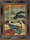 Scheherazade Dreaming SEASIDE White Peacocks Arabian Nights Dulac ART PRINT