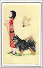 Finnish Lapphund Birthday Card Embroidered by Dogmania