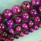 RoseRed Tiger Eye Round Beads 6,8,10,12mm Pick Size