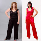 Plus Size Lingerie Sizes 1X 2X 3X  Black or Red Pajamas VX2071X