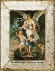 GUARDIAN ANGEL PROTECTING CHILDREN playing near cliff Classic Antique ART PRINT