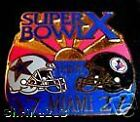 Super Bowl 10 Final Score Pin  Piittsburgh Steelers vs  Dallas Cowboys First