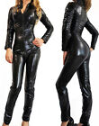 Ladies Lycra Spandex Bodysuit Catsuit Dress PVC Catsuit Hen Party Costume Outfit