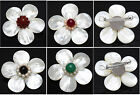 1pc HANDMADE  Shell Mother of Pearl Flower Pin Brooch + Pendant F0161