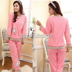 Beautiful Women's Pajamas Fashion Cartoon Sleepwear Pink Printing Pattern N98B