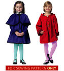 SEWING PATTERN! MAKE CHILD~GIRL COAT WITH DETACHABLE HOOD~CAPE! SIZE 2~5 OR 6~8!