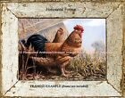 Tuscan French Old Country Farm Ranch ROOSTER & HEN Antique Vintage ART PRINT