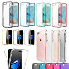Shockproof 360° TPU Protective Clear Bumper Plating Case For iPhone 7 6s Plus