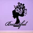 Flower Girl Beautiful Quote Vinyl Wall Art Stickers, Wall Decals, Wall Graphics