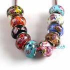 Beautiful 20x Bulk Mixed Lampwork Glass European Bead Fit Bracelet Pick U LIKE
