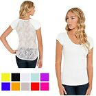 Victoria 5 Pack Scoop Neck Back Lace Floral Top in 4 Sizes
