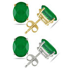1.00Ct Emerald Studs 14K White Or Yellow Gold