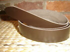 ECONOMY BROWN  LEATHER BELT BLANK/STRAP 2.8mm  - CHOOSE YOUR WIDTH FROM £2.75