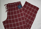 NEW Big Tall Mens Croft & Barrow Jersey Lounge Sleep Pants Plaid 2XT 3X 3XT 4X