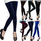 Hot Womens Girls Velvet Slim Fit Skinny Stretchy Pants Tights Leggings