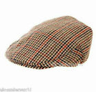 BOYS CHILDRENS LINED COUNTRY TWEED BROWN CHECK PEAK CLASSIC FLAT CAP HAT