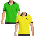 Sport Lifestyle by Puma Casual Mens Polo Shirt Classic Polo I Green & Yellow