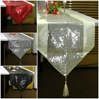 Classic SIMPLE design Glitter Sequins Embroidery Tassel Table Runner Decoration