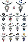 CHOOSE TEAM Necklace New Official NFL 28 in Adjustable Pewter Charm Men or Women