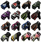 Auth RDX Gel Weight Lifting Body Building Gloves Gym Straps Leather Fitness CA