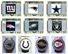 CHOOSE TEAM Money Clip Credit Card Holder New Official NFL Quality Metal